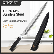 Sushi-Knife Cleaver Kitchen-Knives Wood-Handle XINZUO Ebony X9cr18mov-Steel with Scabbard-Cover