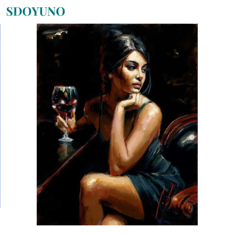 SDOYUNO Painting By Numbers On Canvas Sex Women 60x75cm Painting By Numbers For Adults DIY Bedroom Decor Unique Gift