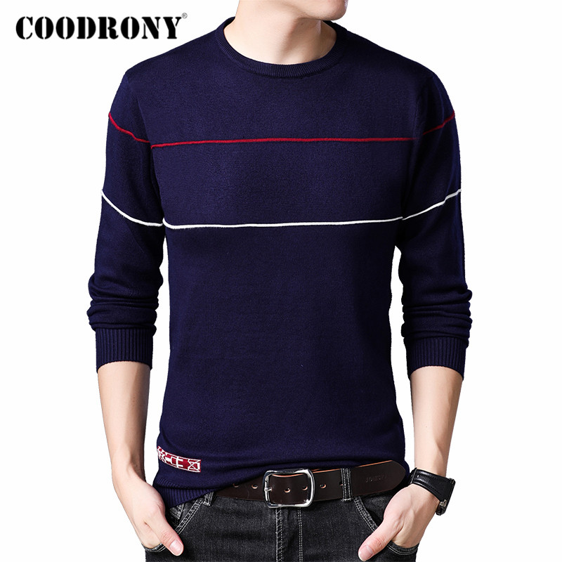 COODRONY Brand Sweater Men Cotton Pullover Men Jersey Hombre Casual O-Neck Pull Homme 2019 Autumn Winter Knitwear Sweaters C1013