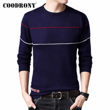 COODRONY Brand Sweater Men Cotton Pullover Men Jer