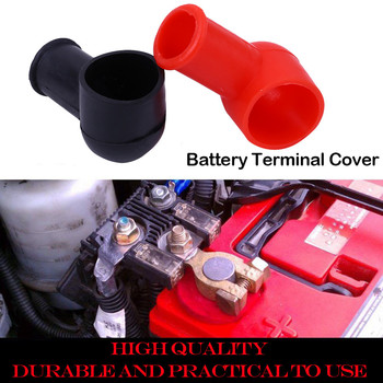 100% brand new 2 pc Car Battery Negative Positive Terminal Covers Cap Boat Insulating Protector sleeve prevents dust#P15 image