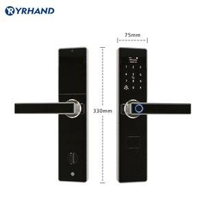 Image 5 - Tuya חכם דלת מנעולי טביעת אצבע עמיד למים אפליקציה Keyless usb נטענת דיגיטלי מנעול דלת