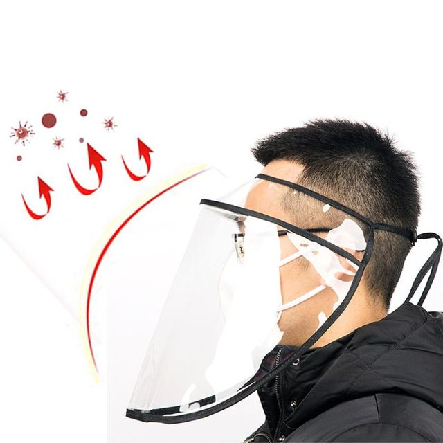New Anti Saliva Protective Face Shield Reusable Safety Full Face Shields Plastic Universal 1