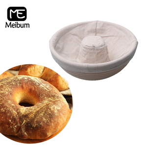 Meibum 4 Types Brotform Proofing Baskets Country Bread Banneton Dough Fermentation Rattan Basket With Linen Liner Baking Tools