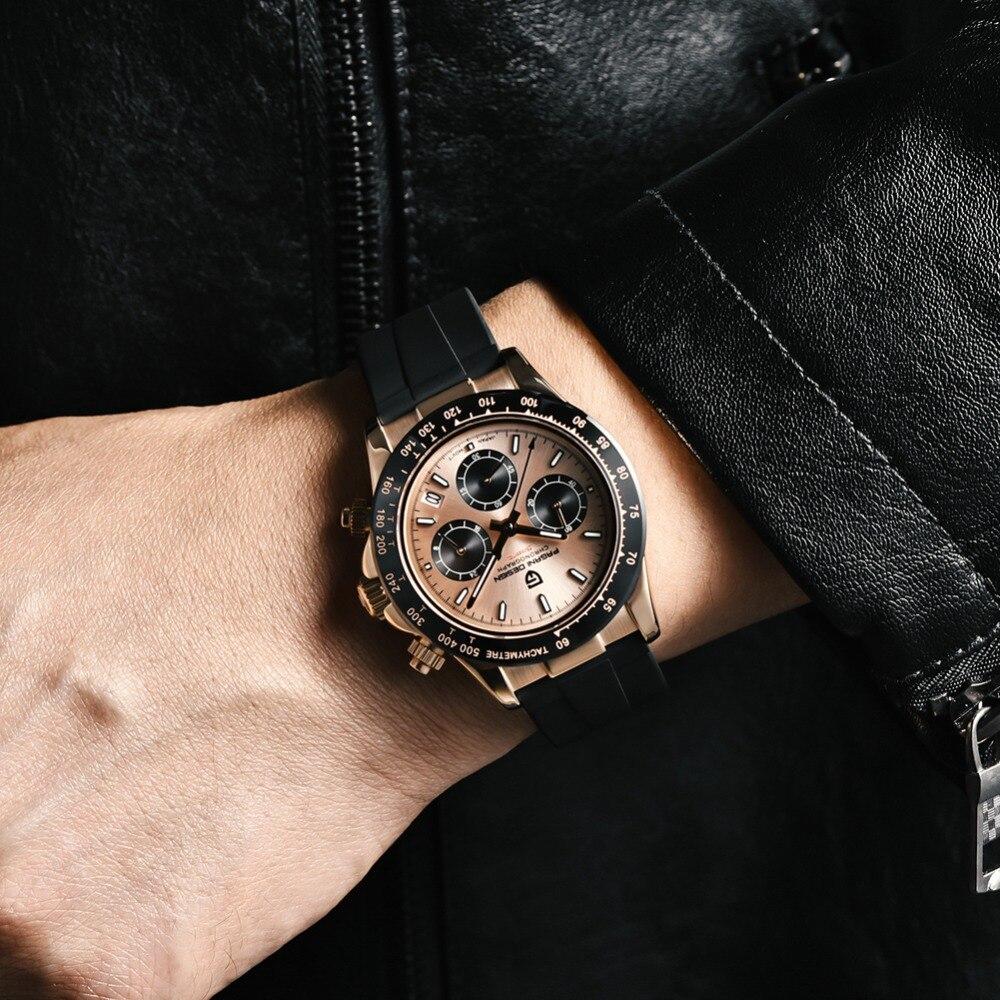 2020 New PAGANI DESIGN Mens Quartz Watches Automatic Date Luxury Gold Wristwatch Men Waterproof Chronograph Japan seiko VK63 Clock man dropshipping (39)