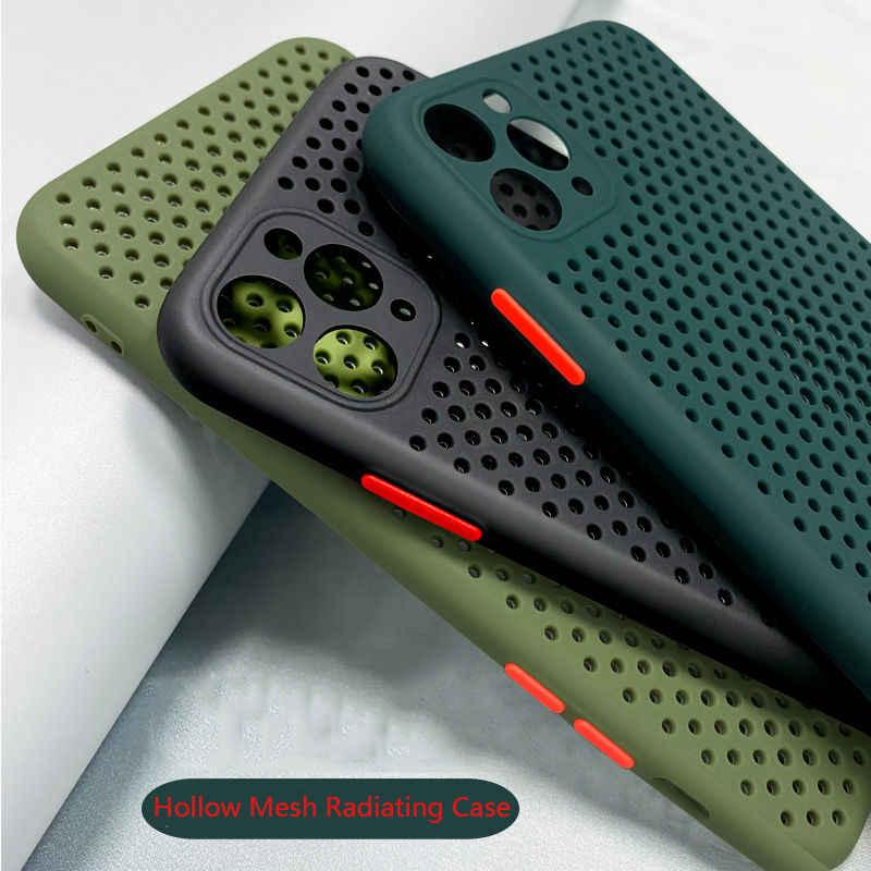 Чехол для телефона с полым охлаждением, задняя крышка для iPhone 11 Pro Max, дышащий мягкий чехол для iPhone X XS Max XR SE2 9 8 7 6 6S Plus, чехол