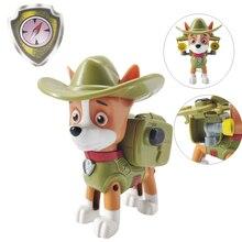 Paw patrol dog toy kid toys paw tracker original cartoon characters patrulha canina action figure children birthday gift