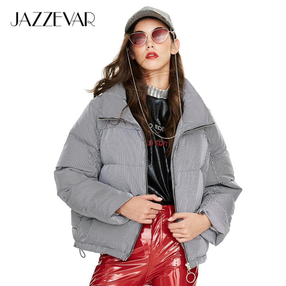 JAZZEVAR 2019 Winter New Arrival Down Jacket Women With Zipper Fashion Style Color Pink Short Winter Down Coat For Women Y9040