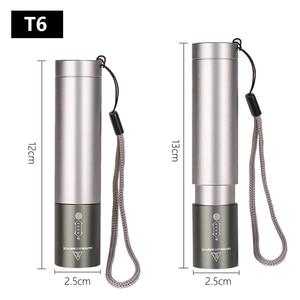 Image 3 - 8000 لومينز z94 XM L T6 مخزن للطاقة مزود بمؤشر LED مضيا الشعلة 3 طرق التبديل عدسات تكبير بنيت في بطارية قابلة للشحن للتخييم