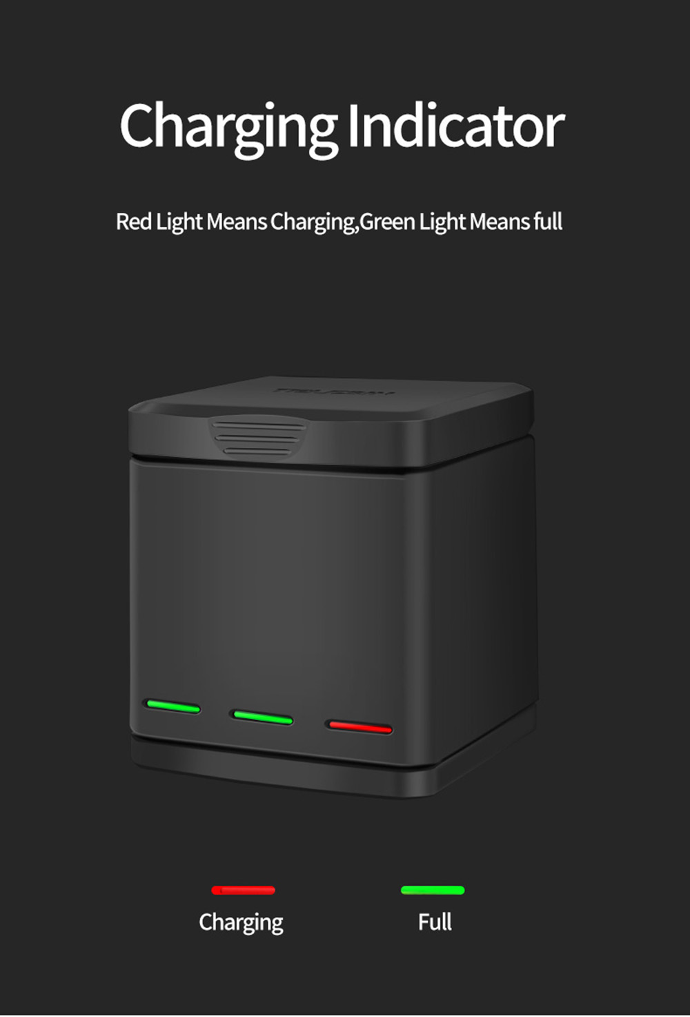 TELESIN Gopro Battery Pack For Hero 5 Hero 6 Hero 7 Hero 8 5