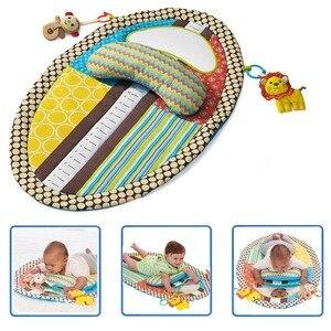 Image 1 - OLOEY תינוק חדר כושר Playmat צבעוני ילדים עמיד למים מחצלת גובה לשחק שמיכת משחק שטיח מוקדם ללמוד פעילות מחצלת מראה כרית בובה