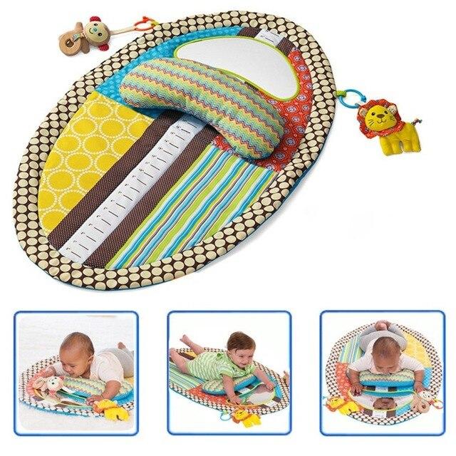 OLOEY תינוק חדר כושר Playmat צבעוני ילדים עמיד למים מחצלת גובה לשחק שמיכת משחק שטיח מוקדם ללמוד פעילות מחצלת מראה כרית בובה