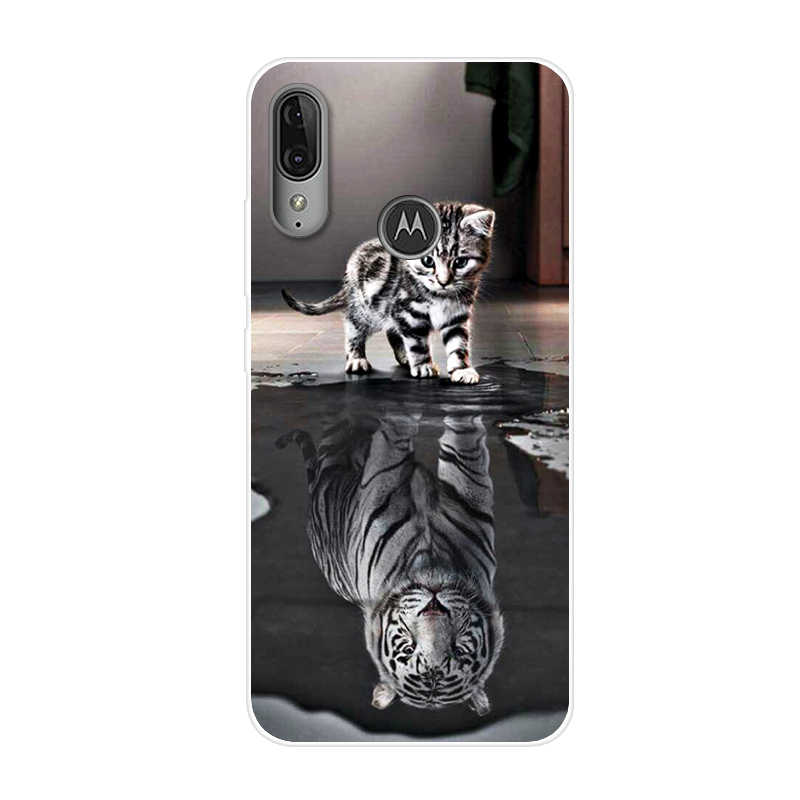 Funda para Moto E6 Plus, funda pintada de silicona TPU suave, funda bonita para teléfono Motorola Moto e6 Plus E6S Coque e 6 plus E6Plus