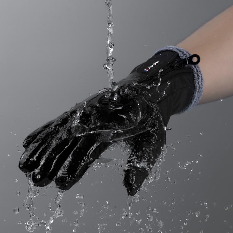 Waterproof Windproof Warm Men Women Ski Gloves Thermal Touch Screen Outdoor Sport Cycling Snowboard Gloves