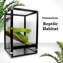 Reptile Habitat Aluminium Air Screen Cage Detachable Terrarium Rainforest Habitat for Reptiles and Amphibians