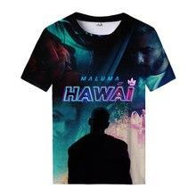 Camiseta con estampado 3d de Maluma para hombre y mujer, ropa informal de calle, camiseta con Logo de Hawai Senpai, camiseta guay que combina con todo