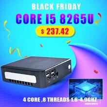 2019 nouveau Mini PC Intel i5 8265U 2 * DDR4 32 go RAM NVME M.2 SSD ordinateur de poche Nuc ordinateur de bureau Windows 10 Pro type c 4K HDMI2.0 DP