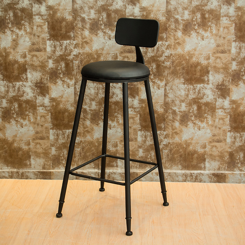 Retro Wrought Iron Cafe Bar Table And Chair Combination American Milk Tea Shop Small Round Table Bar High Stool High Chair