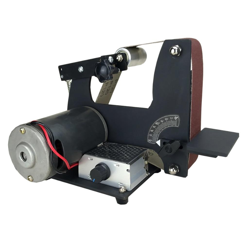 220V Electric Abrasive Belt Machine DIY Belt Sander Knife Sharpener Metal Polishing Machine 350W 0-7000RPM 610x50MM Y