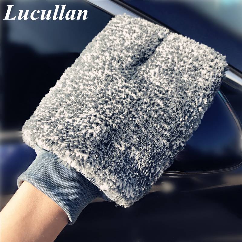 Lucullan Microfiber Bubble Car Wash Mitt Super Fluffy And Thick Sponge Inside Doing Amazing For Car Foam Washing
