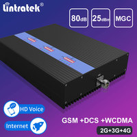 Lintratek Tri Band Repeater GSM 3G 4G Signaal Booster GSM 900 DCS LTE 1800 WCDMA 2100 3G UMTS High Gain Signal Repeater Amlifier