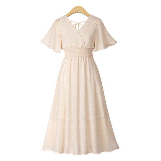 plus size dress white bandage elegant midi pink chiffon black office summer ruffle big vestiti donna v neck tallas grandes mujer 2