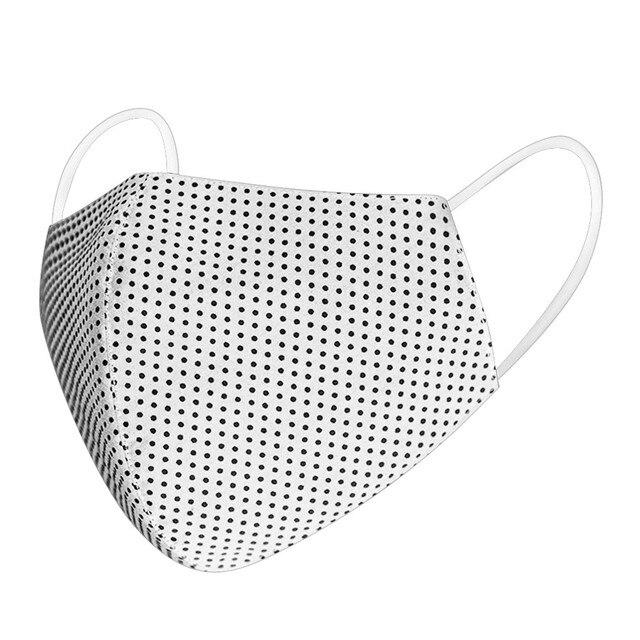 #H30 Dot Print Cotton PM2.5 Anti Haze Mask Anti dust mouth mask Washable Reusable Filter Mouth-muffle Mask Fabric Face Mask 3