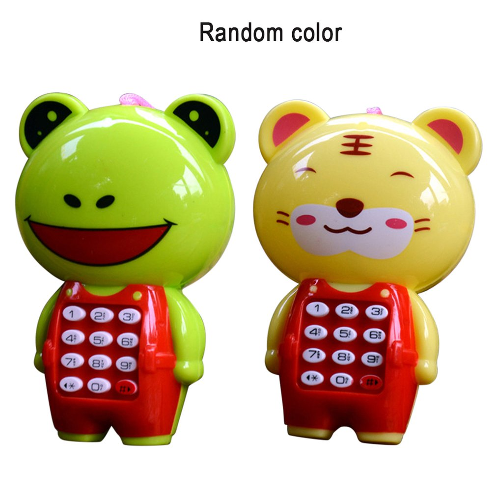 Creative Cartoon Music Phone Mobile Phone Baby Education Learning Toy Mobile Phone Model Machine Children'S Best Gift