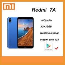 Celular xiaomi redmi 7a 3gb 32 4000mah bateria snapdragon 439 processador smartphone com quadro global googleplay