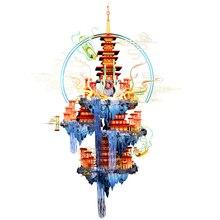 MU ثلاثية الأبعاد لغز معدني الشكل لعبة Penglai الجنية جزيرة بناء نموذج أطقم تجميع بازل قطع نماذج ثلاثية الأبعاد دمى هدايا للأطفال