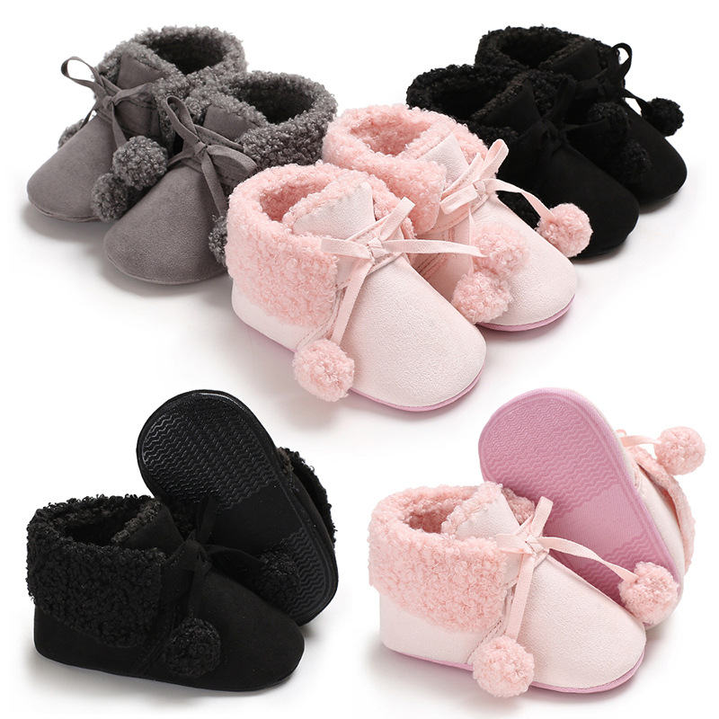 Baby Winter Boots Soft Boots  Baby Boots Toddler Boots Mid-Calf Baby Girl Shoes Winter Butterfly-knot Infant Boots