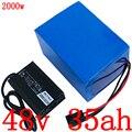 48V 1000W 1500W 2000W литиевая батарея 48V 35AH электрическая велосипедная батарея 48V литий-ионная батарея 48V 35ah аккумулятора электроскутера