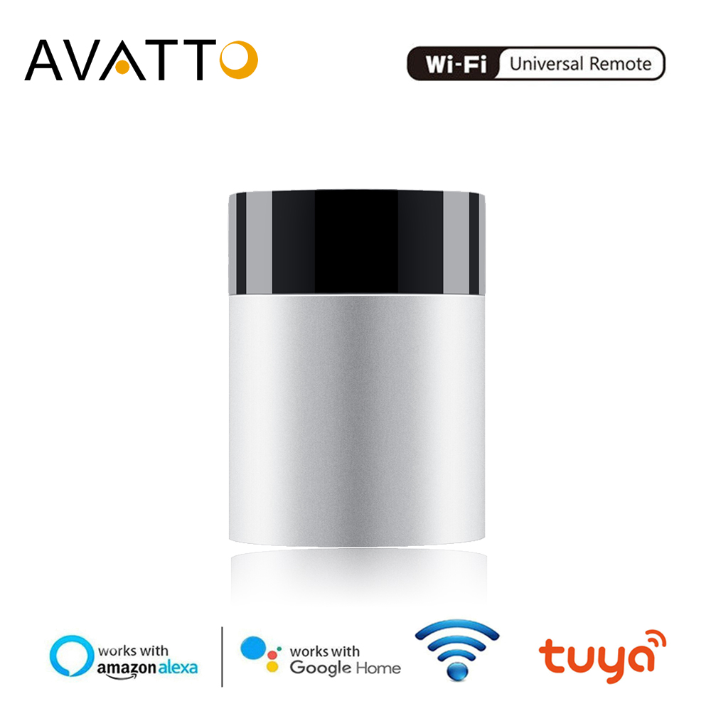 AVATTO Tuya Smart Home Remote Controller,2.4G Aluminum Alloy WiFi IR Remote,APP Voice Control Work With Alexa,Google Home