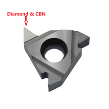 Diamond PCD internal external threaded cutter insert threading tool CBN carbide turning lathe cutter 16ER 16IR AG60 A55 22IR 22ER