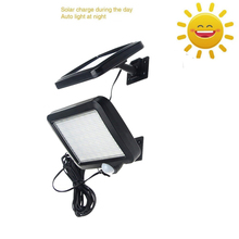 цена на Waterproof PIR Motion Sensor 56/30 LED Solar Light Outdoor 2835 SMD LED Garden Light Split Sensor Pathway Wall street spot Lamp