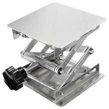 Laboratory manual stainless steel lifting platform 100x 100mm