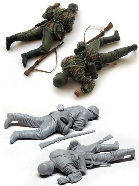 <font><b>1</b></font>/<font><b>35</b></font> <font><b>Resin</b></font> Figures WWII <font><b>German</b></font> Soldier Killed 1pc <font><b>Model</b></font> Kits image