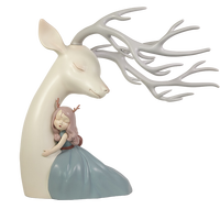 keme life dream of fairy tale mini series lucky Deer Closest art figure action white toys kids gift decoration