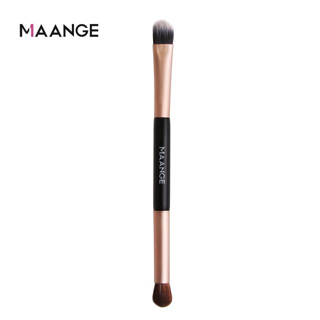 MAANGE 1pcs Multifunctional Double head Eye shadow Brush Double-end Foundation Powder Eyeshadow Brush Tool two head makeup brush 4