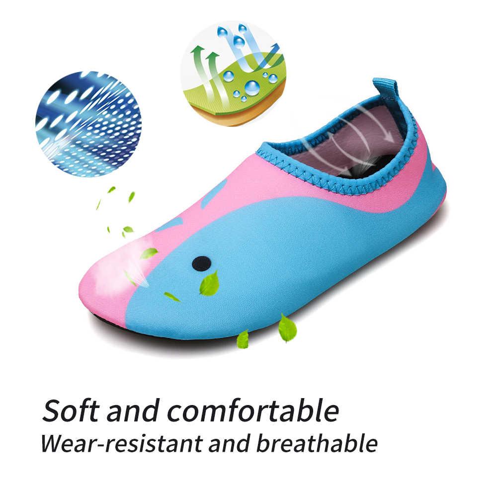 Buty do wody dla dzieci boso Quick-Dry Aqua joga skarpety chłopcy dziewczęta zwierząt miękkie do nurkowania buty wędkarskie plaży buty do pływania