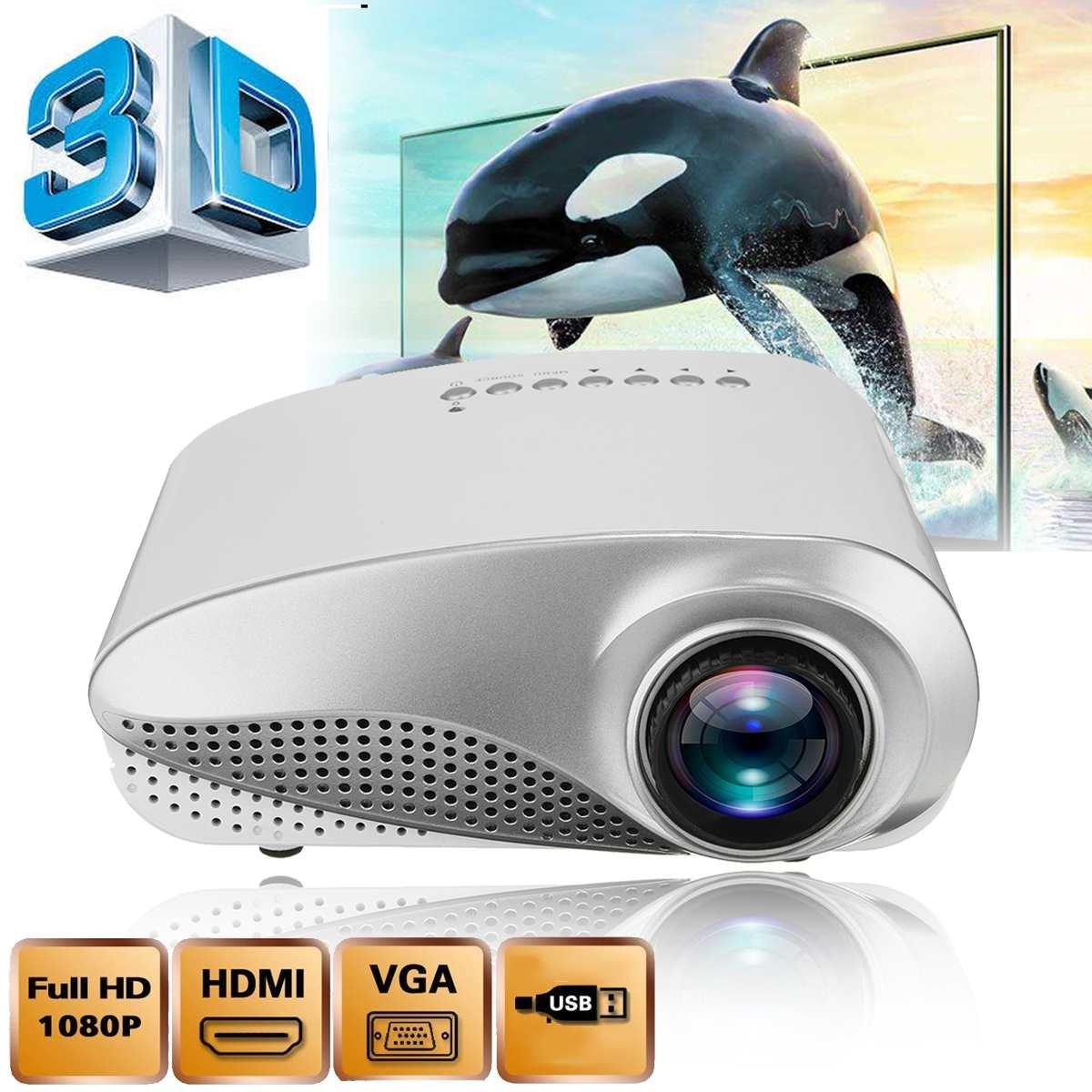 Nouveau Mini projecteur Full HD Portable 1080P 3D HD projecteur LED multimédia Home cinéma USB VGA HDMI TV pour le cinéma maison