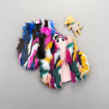 2019 Winter New Multicolor Kids Fashion Faux Fur Vest Baby  Toddler Girl Fur Vest  Kids Warm Vest  Baby Girl Winter Clothes reima jackets 8689577 for girls polyester winter fur clothes girl