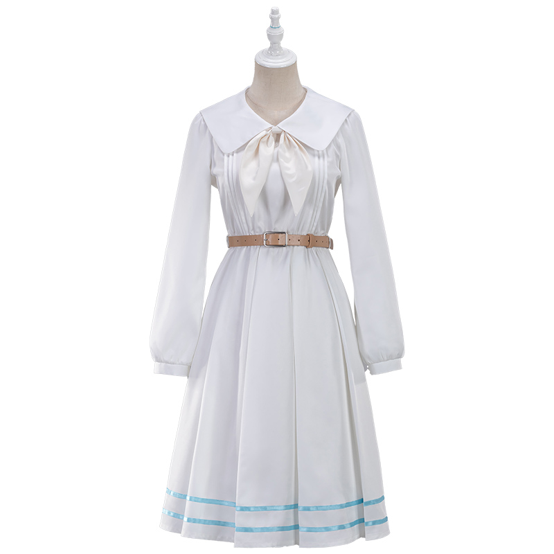Closeout DealsUWOWO Anime Beastars Haru Cosplay Costume Uniform White Rabbit Animal Cute Dress