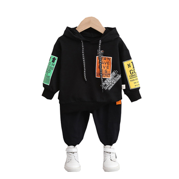 New Spring Autumn Baby Girl Clothes Children Boys Cotton Letter Hoodies Pants 2Piece Set Toddler Fashion Costume Kids Tracksuits kids tracksuits 2018 new autumn boys clothes sets letter printed hoodies