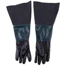 1 Pair 600MM Durable Soft Heavy Duty Protective Sandblasting Replacement Machine Gloves For Sandblaster Sand Blast Cabinet  Work