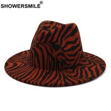 Женская и мужская шляпа федора showersmile красная полосатая