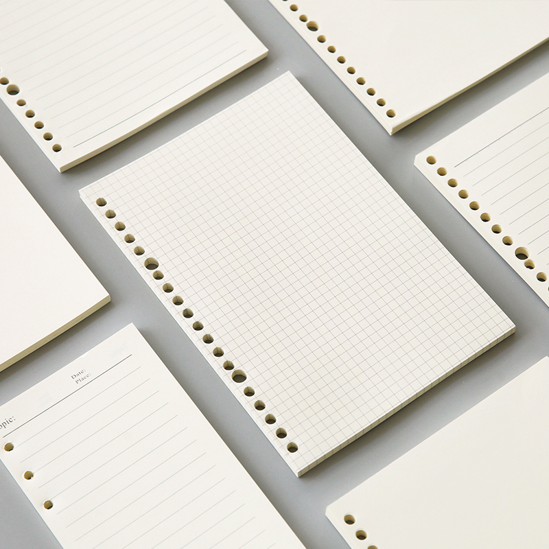 <font><b>A5</b></font> 20 Holes B5 26 Holes <font><b>Notebook</b></font> Filler Paper <font><b>Spiral</b></font> Journal Planner Inner Pages Dotted Grid Blank Cornell PP <font><b>Spiral</b></font> Cover image