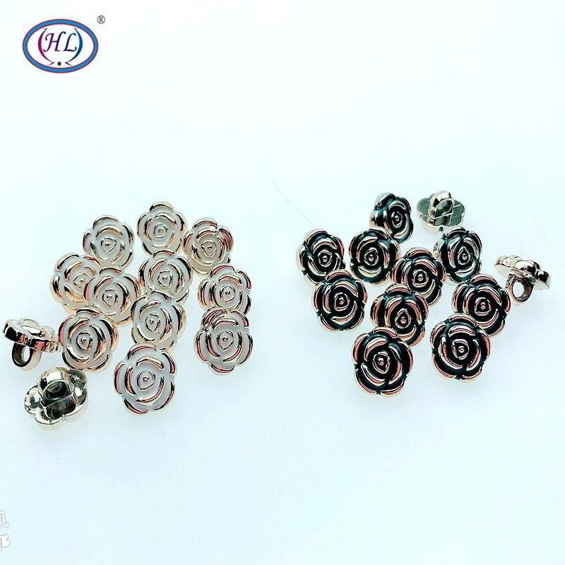HL 50/150 шт 11 мм новые розы Стиль пуговки с покрытием DIY Швейные аксессуары
