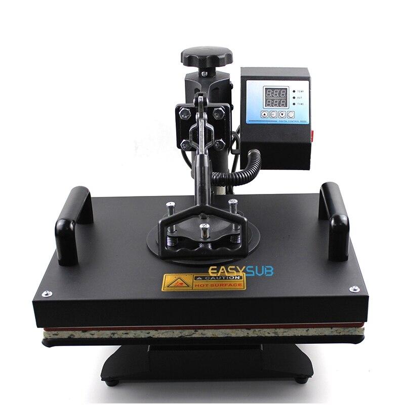 Tanie 30*38CM 5 w 1 Combo prasa termiczna maszyna drukarka sublimacyjna drukowanie na koszulki talerze/czapka/kubek/etui telefoniczne