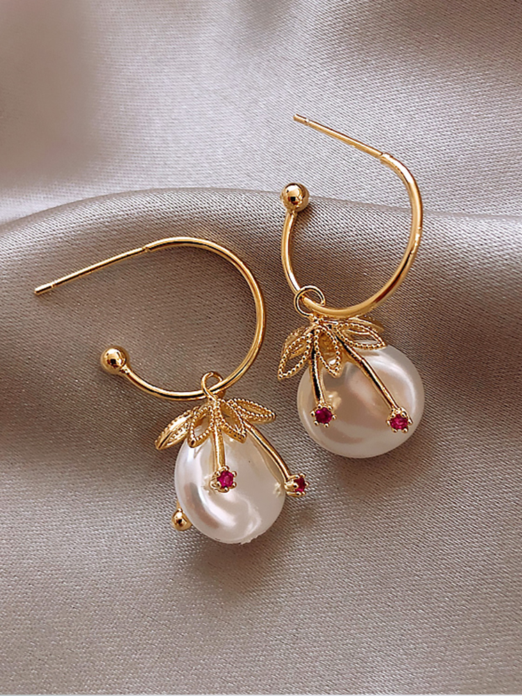 Earrings French Baroque pearl earrings 2019 new fashion female earrings net red temperament earrings Trend Women's Earrings
